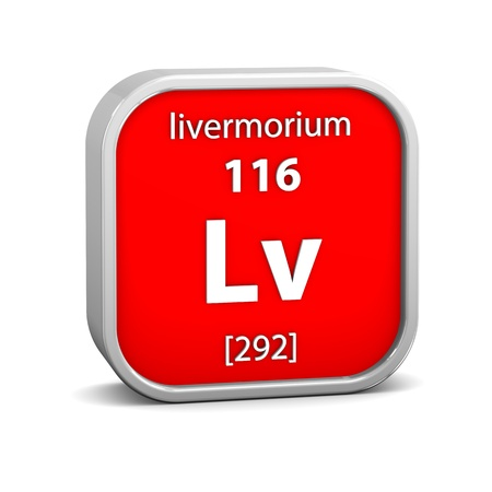 periodic table of the elements: Livermorium material on the periodic table. Part of a series.
