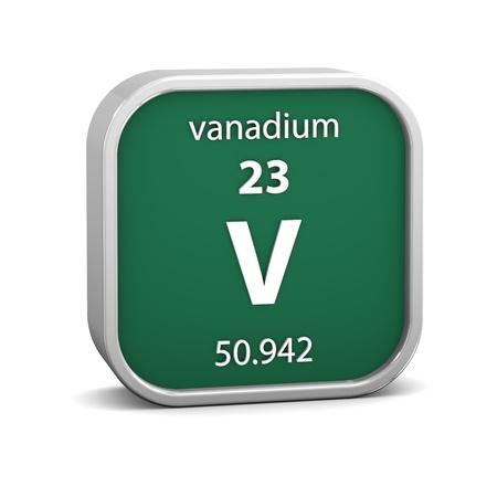 vanadium: Vanadium material on the periodic table  Part of a series
