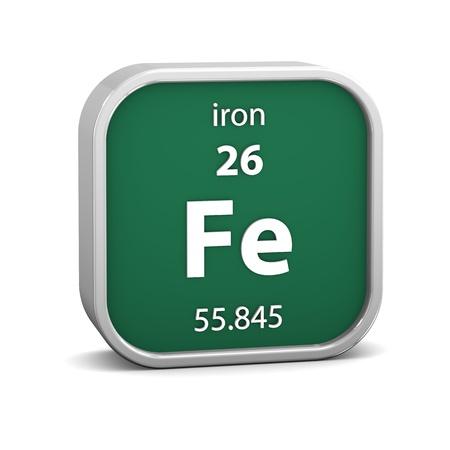 Smbolo para el hierro elemento qumico fotos retratos imgenes y material de hierro en la tabla peridica parte de una serie photo urtaz Images