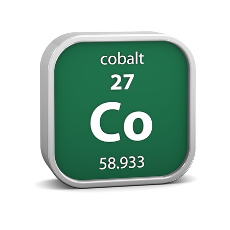 Cobalt material on the periodic table  Part of a series  photo