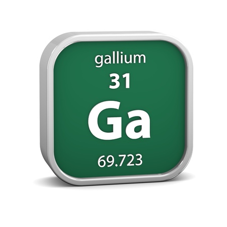 Gallium material on the periodic table  Part of a series  photo