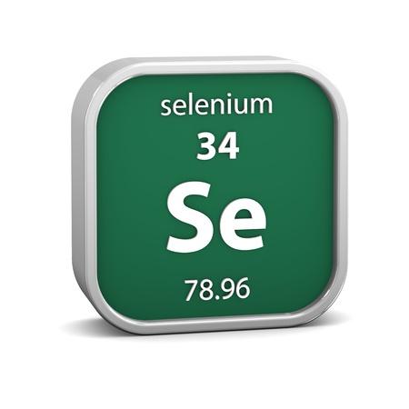 selenium: Selenium material on the periodic table  Part of a series
