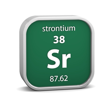 strontium: Strontium material on the periodic table  Part of a series