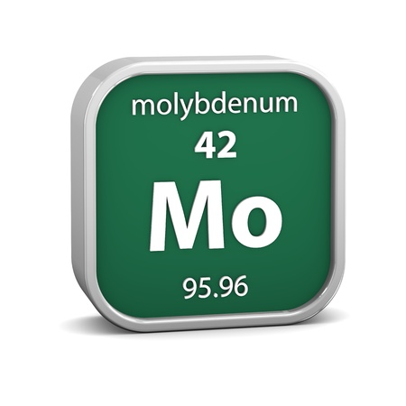Molybdenum material on the periodic table  Part of a series  photo