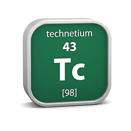 Technetium material on the periodic table  Part of a series  photo