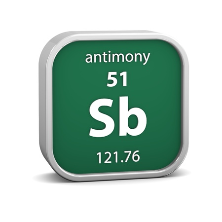 antimony: Antimony material on the periodic table  Part of a series