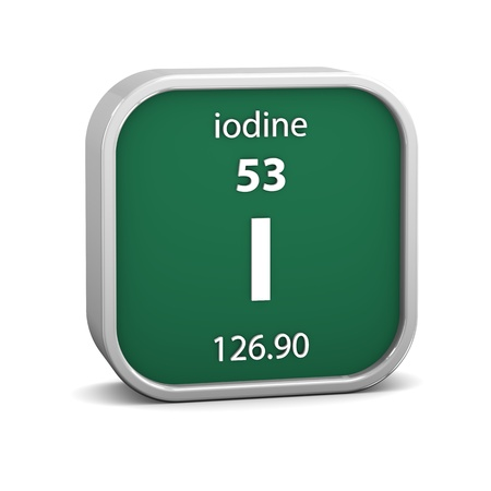 iodine: Iodine material on the periodic table  Part of a series