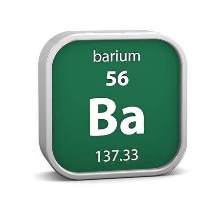 barium: Barium material on the periodic table  Part of a series