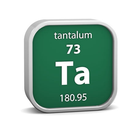 Tantalum material on the periodic table. Part of a series. Stock Photo - 19745045