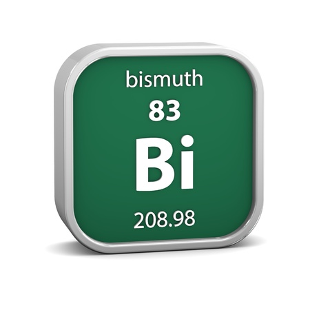 Bismuth material on the periodic table. Part of a series. photo