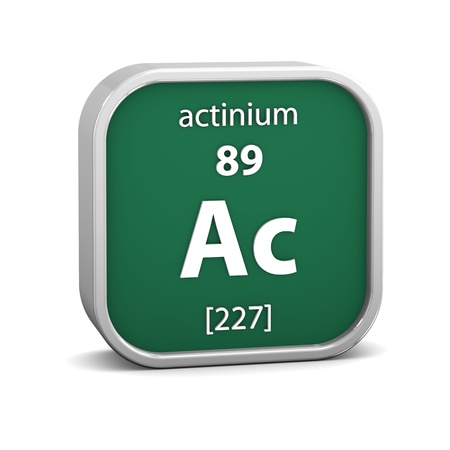 affinity: Actinium material on the periodic table. Part of a series.