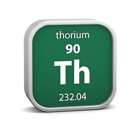 thorium: Thorium material on the periodic table. Part of a series. Stock Photo
