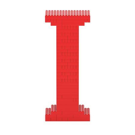 part of me: Carta construí a partir de ladrillos de juguete de color rojo