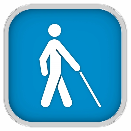 Low vision access  sign on a white background. Part of a series.