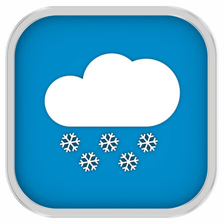 considerable: Partly to mainly cloudy with considerable amount of snow sign on a white background. Part of a series.