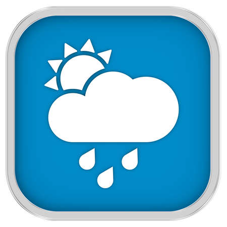 considerable: Mainly cloudy with considerable amount of rain sign on a white background. Part of a series.
