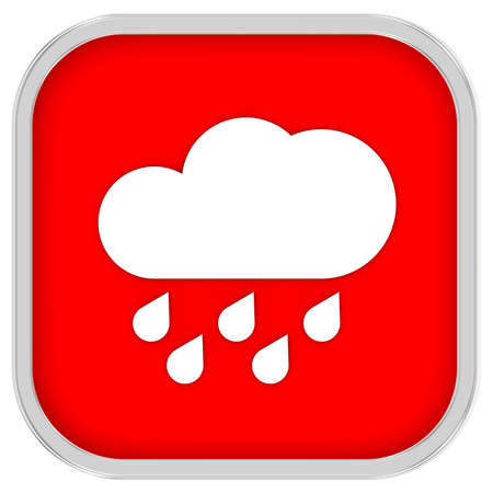 considerable: Cloudy with considerable amount of rain sign on a white background. Part of a series.  Stock Photo
