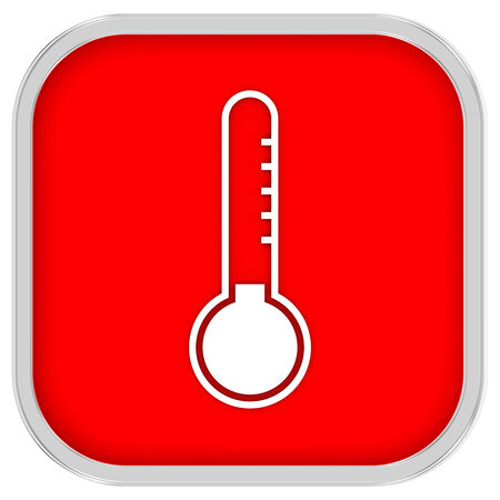 barometer: Low temperature sign on a white background. Part of a series.