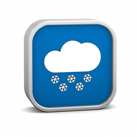 hard rain: Partly to mainly cloudy with considerable amount of snow sign on a white background. Part of a series.
