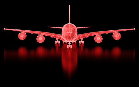 aircraft engine: Commercial Aircraft  Mesh. Part of a series. Stock Photo