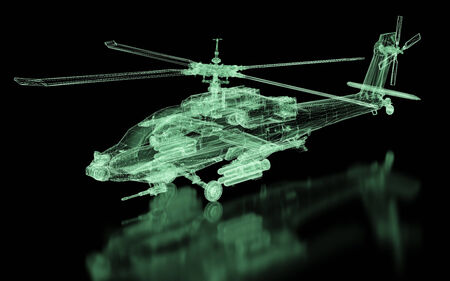 military draft: Helicopter Mesh. Part of a series. Stock Photo