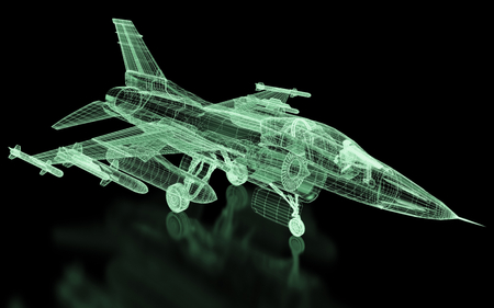military draft: Jet Fighter Aircraft  Mesh. Part of a series.