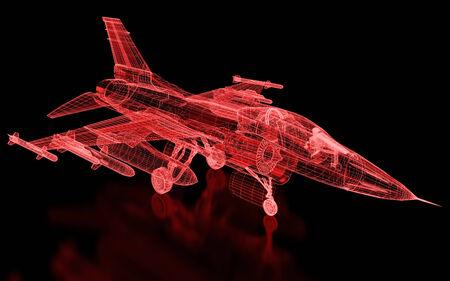 Jet Fighter Aircraft Mesh. Teil einer Reihe.