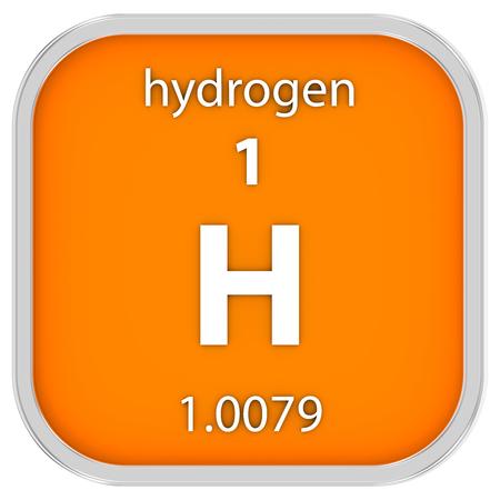 hidrógeno: Hidr?geno material en la tabla peri?dica. Parte de una serie.