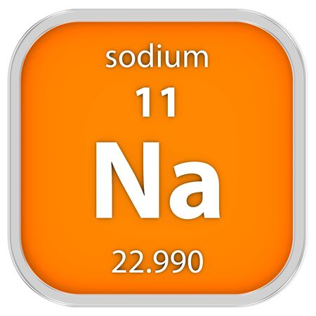 sodium: Sodium material on the periodic table. Part of a series.