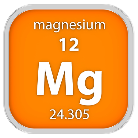 magnesium: Magnesium material on the periodic table. Part of a series.