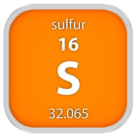 Sulfur material on the periodic table. Part of a series.