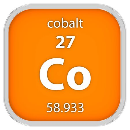 electrons: Cobalt material on the periodic table. Part of a series.