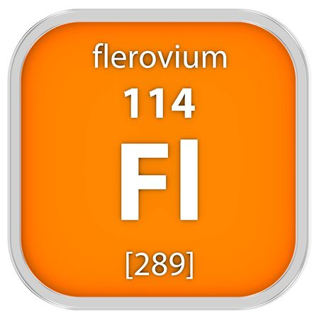 affinity: Flerovium material on the periodic table. Part of a series.