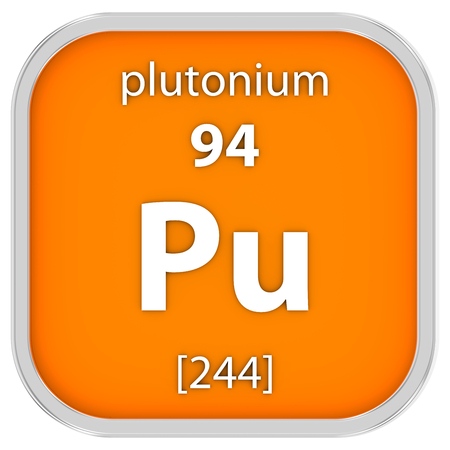 Plutonium Material On The Periodic Table Part Of A Series Stock