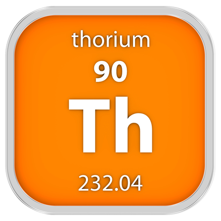 Thorium material on the periodic table. Part of a series. photo