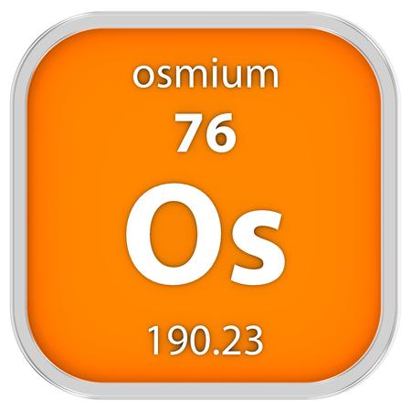 Osmium symbol in square shape with metallic border and transparent 40453010 osmium material on the periodic table part of a series urtaz Choice Image