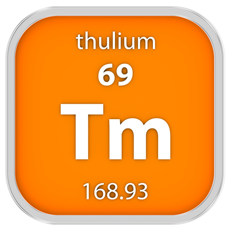 affinity: Thulium material on the periodic table. Part of a series.