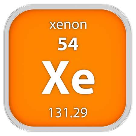 xenon: Material de xen�n en la tabla peri�dica. Parte de una serie. Foto de archivo