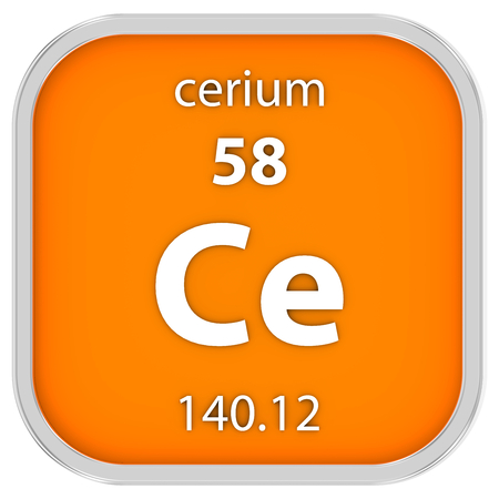 Cerium material on the periodic table part of a series stock photo cerium material on the periodic table part of a series stock photo 40453060 urtaz Images