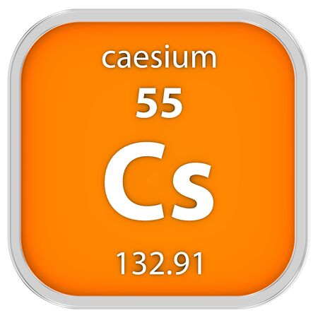 caesium: Caesium material on the periodic table. Part of a series.
