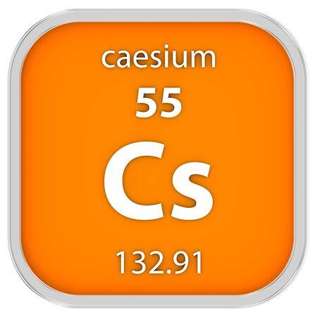 caesium: Caesium material on the periodic table. Part of a series.