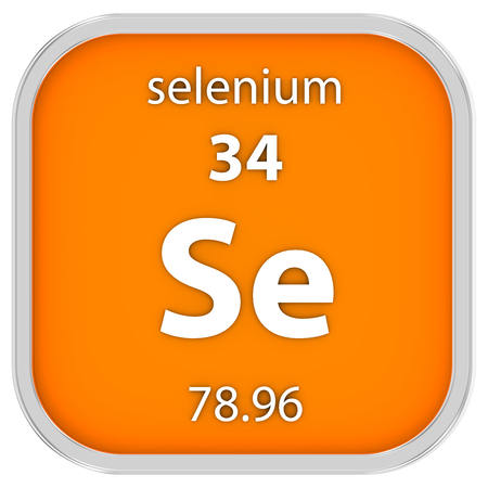 Selenium material on the periodic table. Part of a series. Stock Photo