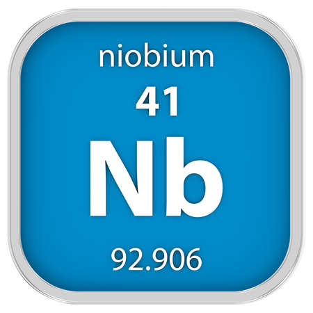 affinity: Niobium material on the periodic table. Part of a series.
