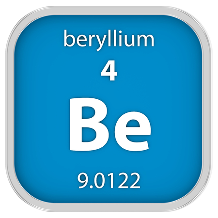 affinity: Beryllium material on the periodic table. Part of a series.