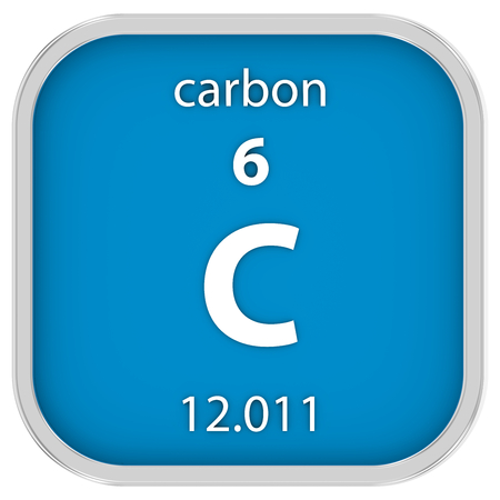 Carbon symbol in square shape with metallic border and transparent carbon material on the periodic table part of a series photo urtaz Gallery