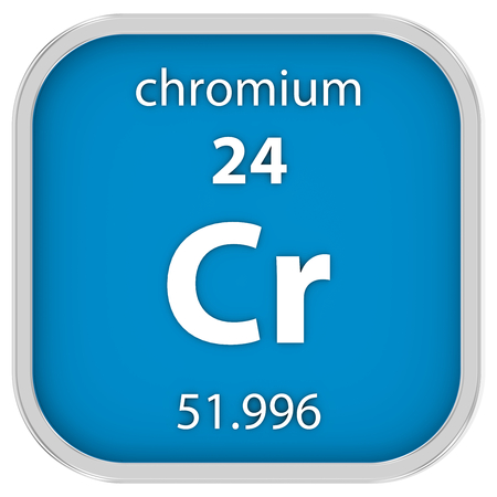 affinity: Chromium material on the periodic table. Part of a series.
