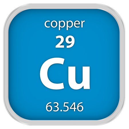 affinity: Copper material on the periodic table. Part of a series.