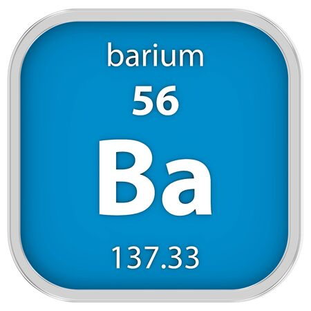 barium: Barium material on the periodic table. Part of a series.