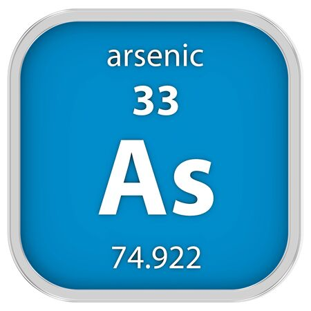 affinity: Arsenic material on the periodic table. Part of a series.