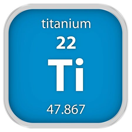 Titanium material on the periodic table. Part of a series.